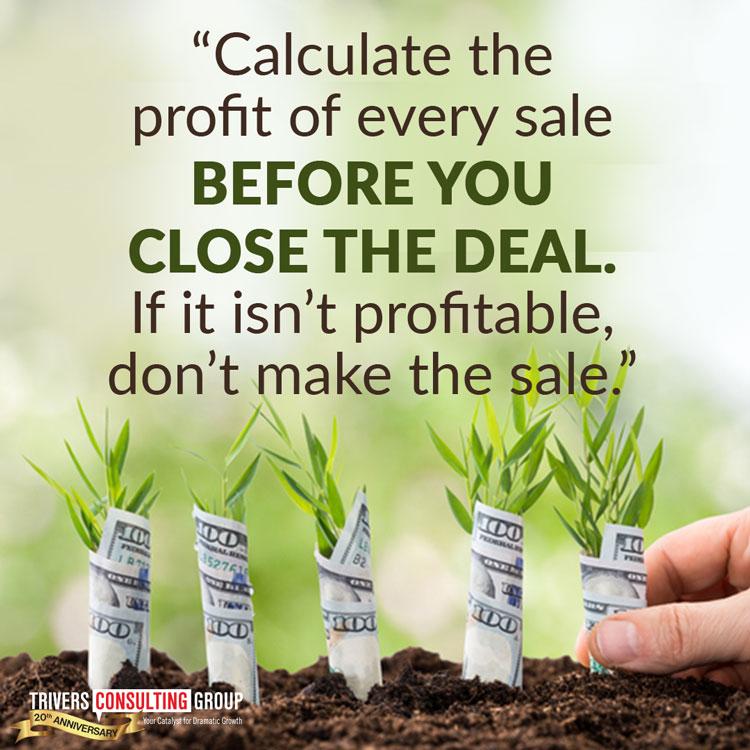 Calculate profit sale